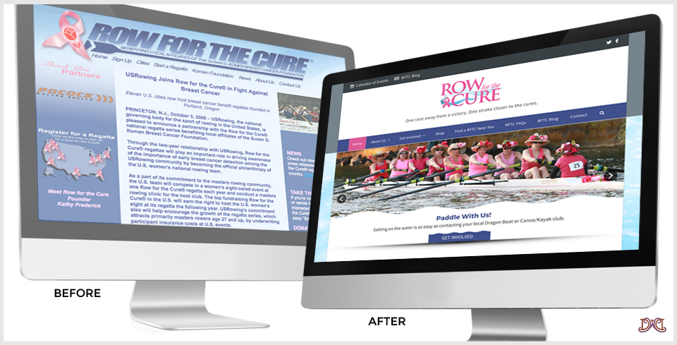 Custom WordPress Website Redesign for Row For The Cure®
