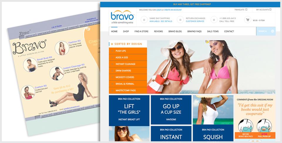 Custom WordPress Website Redesign for Bravo Bra Pads