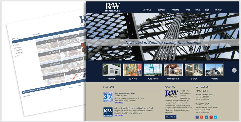 Custom WordPress Website Redesign for R&W Engineering