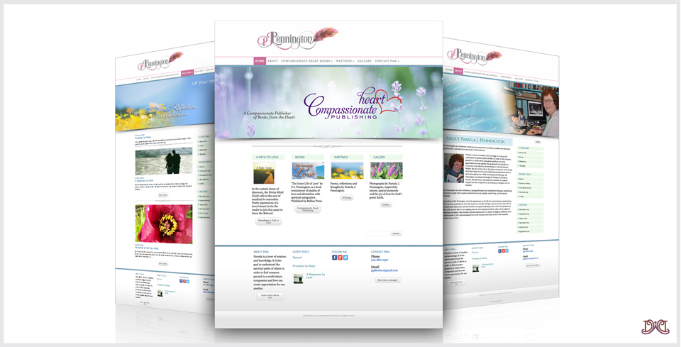 Custom Website Design for Pam J. Pennington