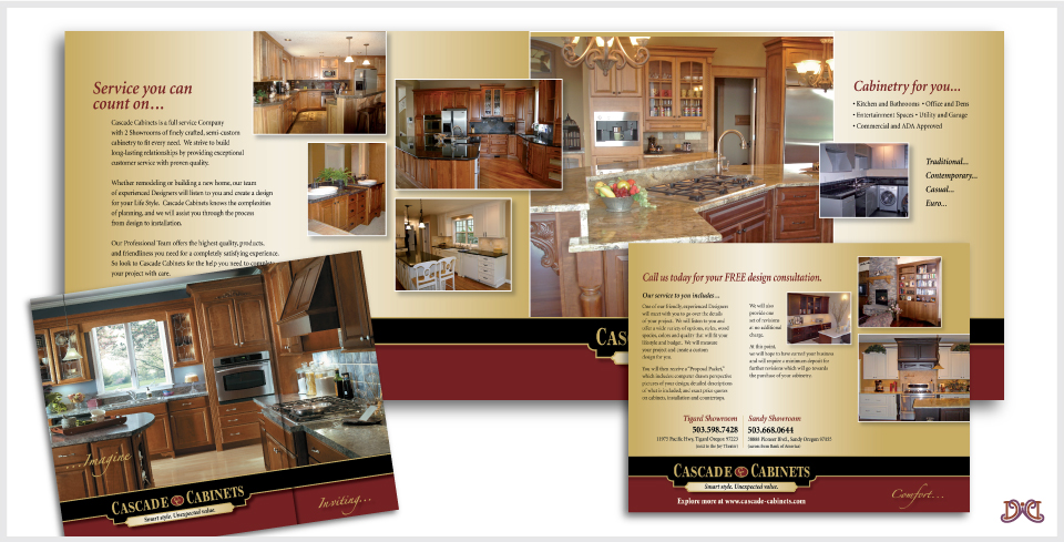 Cascade Cabinets Brochure Design by DesignWise Art