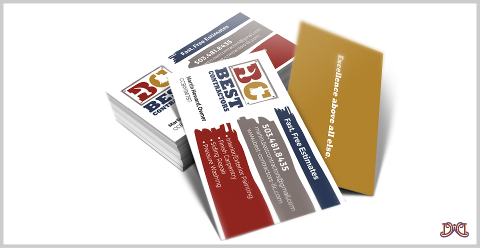 best contractors business card design